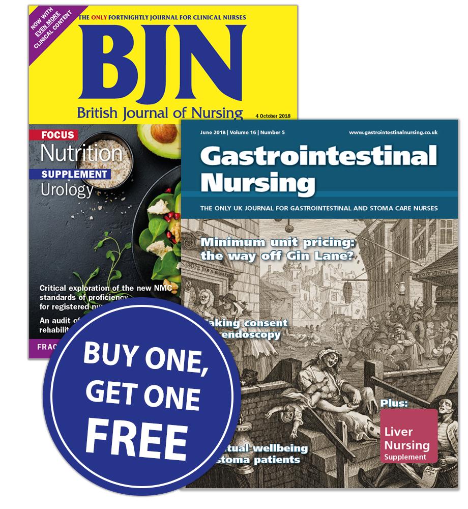 MAG Subscriptions  British Journal of Nursing +
