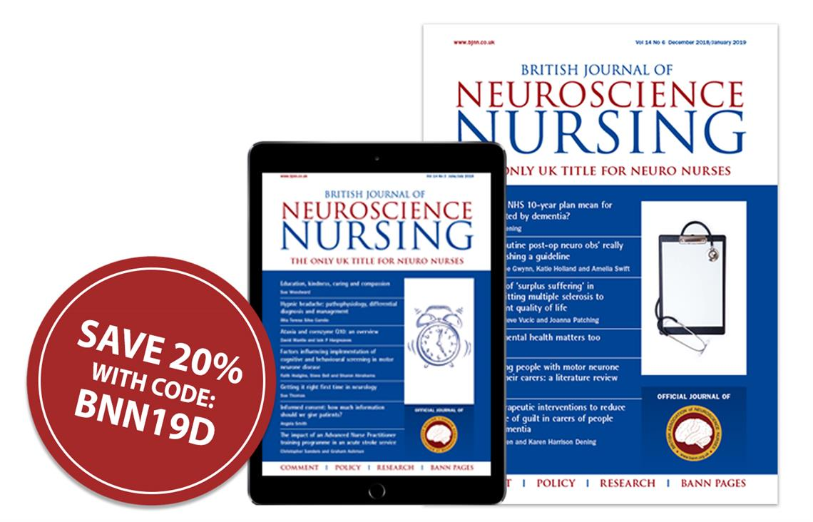 MAG Subscriptions  British Journal of Neuroscience Nursing - Sale